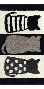 19.5 X 31.5IN// 50 X 80 cm Coffee ZebraSmile Elegant Washable Chenille Non Slip Bath Rug Home Entrance Doorway Mat Entry Doormat Entryway Carpet for Bedroom Indoor Mat Non Skid Bathroom Mat