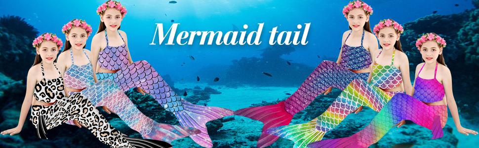 Girls Mermaid Tail swimming suits