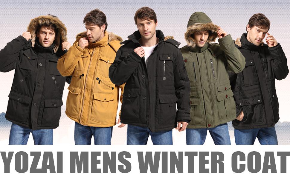 yozai fleece coat hooded zipper pockets fur parka jacket