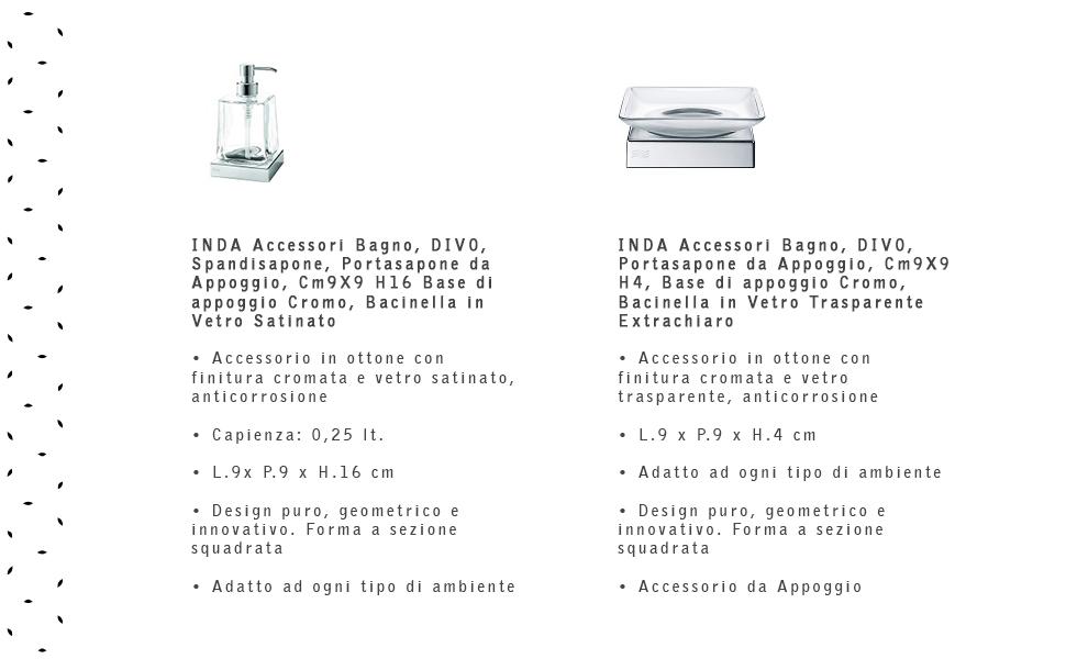 Bicchiere porta spazzolini INDA serie Divo art.A2010Z