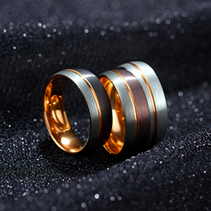 7mm 8mm white tungsten ring