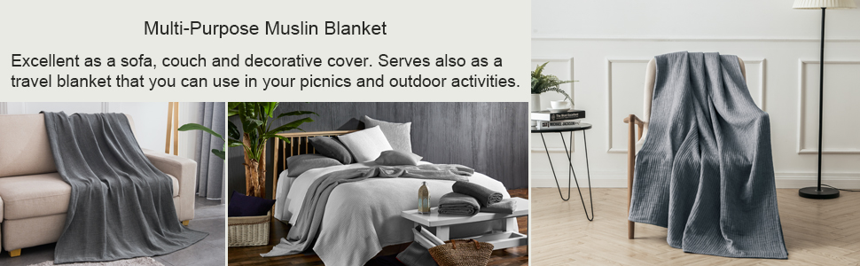Our muslin blankets are made of four-layer yarn textile process.It is amazingly soft