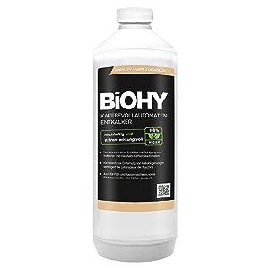 BiOHY Descalcificador de cafetera (1 botella de 1 litro) | ideal ...