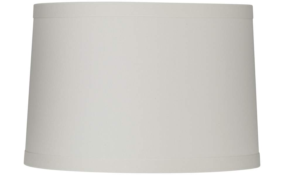 White Linen Drum Lamp Shade 15x16x11 Spider Springcrest Amazon Com