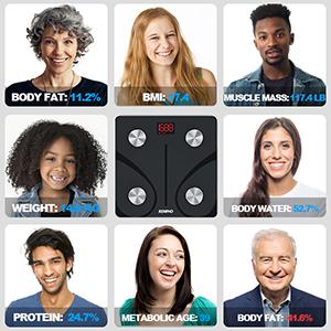 bascula digital de peso y grasa corporal