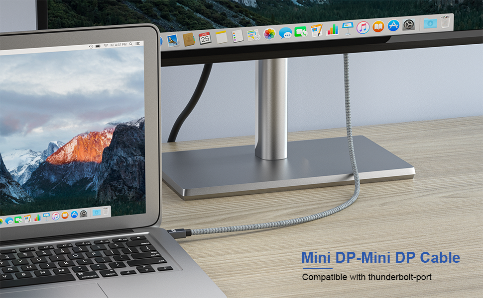 Mini DP to Mini DP Cable ,compatible with thunderbolt port