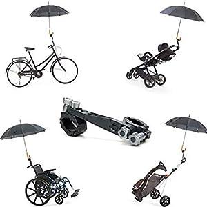 Porta Paraguas Universal y desmontable de Jicaclick | Sujeta paraguas universal para carro de bebé, silla de ruedas, carrito de golf, bicicleta, ...