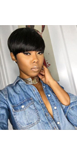 short human hair wgs pixie cut wigs with bangs short black wigs bangs wigs short straight wigs