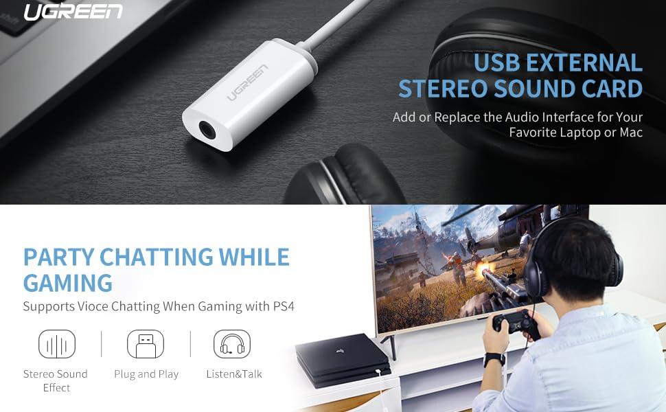 UGREEN External USB Sound Card
