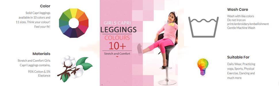 Girls Leggings Capri