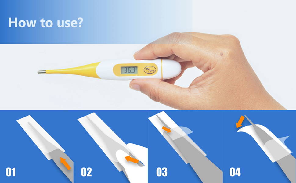 Disposable Probe Covers Digital Thermometers Rectal Sleeves Safe Sanitary Healthy Universal