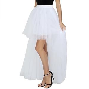 Happy Cherry - Faldas para Mujer Vestido Falda Irregular de Gasa ...
