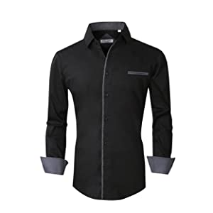 Casual button down shirts for men long sleeve