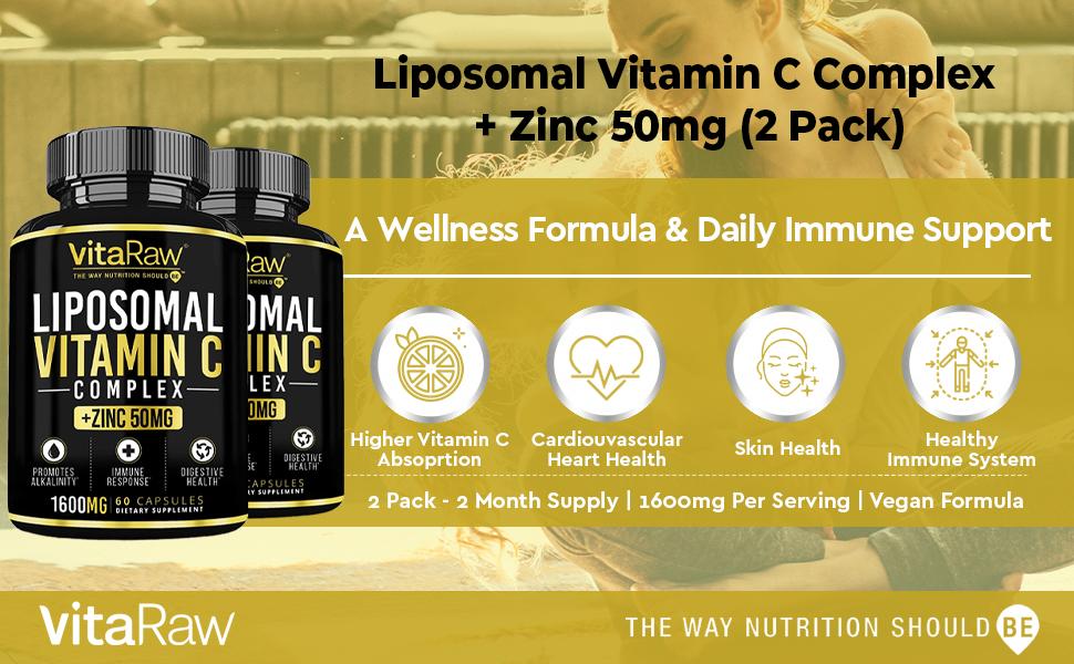 liposomal vitamin c supplement  zinc  highest absorption vitamin c liposomal immune support complex