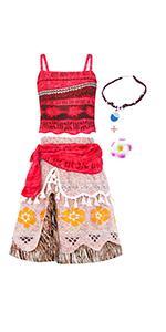 moana dress for girls