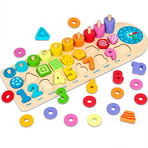 wooden number puzzles for toddlers