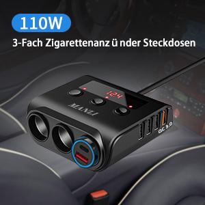 3  Zigarettenanzünder Buchsen von diesem Auto Adapter