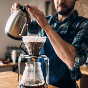 pour over manual coffee burr grinder