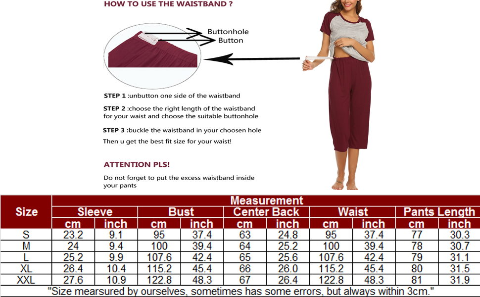 Maternity Pajamas for Hospital Nursing Pj Sets for Women Post Pregnancy Capri