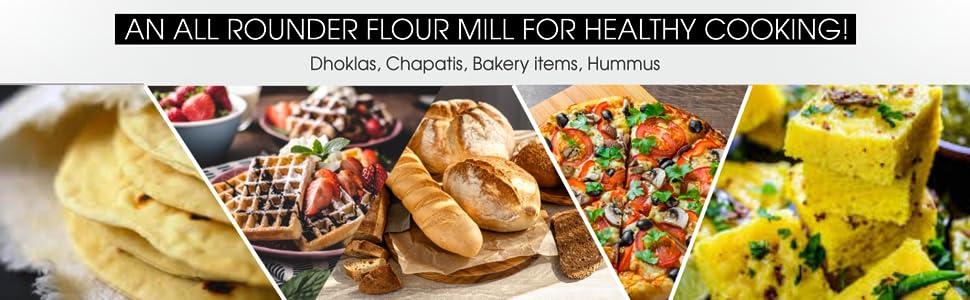 Natraj Shakti Stone Round Domestic Flour mill Atta Maker, Flour Mill, Ghar , Atta Chakki SPN-FOR1