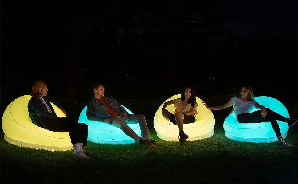 illuminated chair
