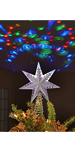 Christmas Tree Topper, LED Treetop Projector