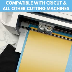 kassa htv vinyl is compatible to be cut with cricut silhouette cameo and other craft cutters