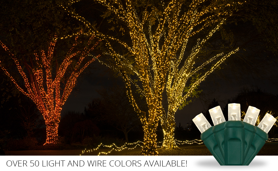 Outdoor LED Christmas String Lights, by Wintergreen Lighting