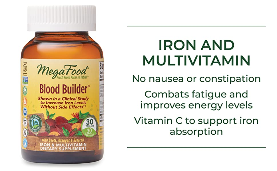 IRON AND MULTIVITAMIN No nausea or constipation Combats fatigue and improves energy levels