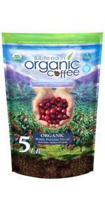 5 LB Subtle Earth Organic Water Process Decaf