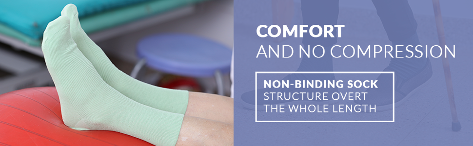 Comfort and no compression. Non-binding structure over the whole length