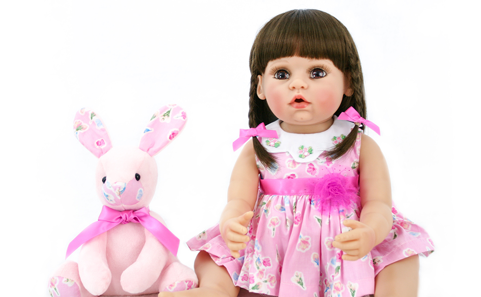 Reborn Toddler Baby Doll Artificial Girl 22 Inch Vinyl Silicone Lifelike Toy T2