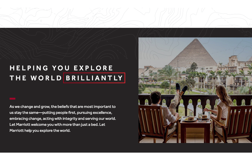 Marriott Hotels Shop Helping You Explore The World Brilliantly Brand Story