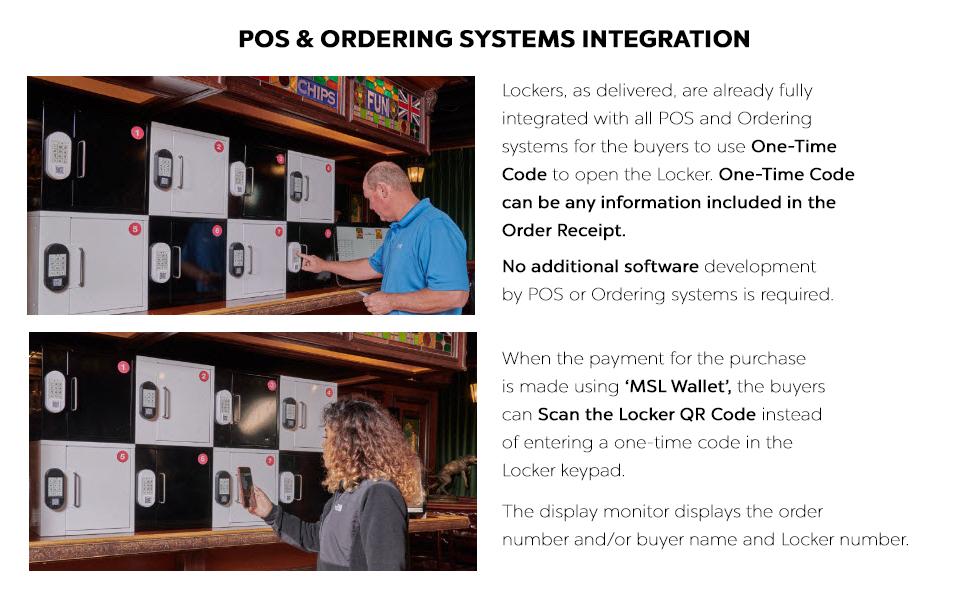 MySingleLink Smart Locker POS and Ordering System Integration
