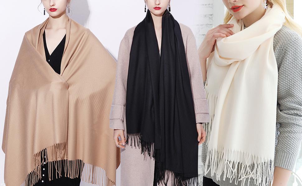 YAOMEI Unisex Femme Pashmina Echarpe Foulards 2020 Femme L/éger et doux Vintage Hiver La Ch/âles Etoles /écharpe