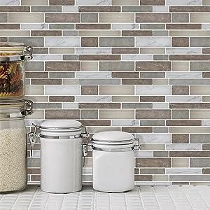peel and stick backsplash tile for bathroom or kitchen