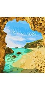 MaileKai Creates Beach Arch Framed Paint by Numbers Kit