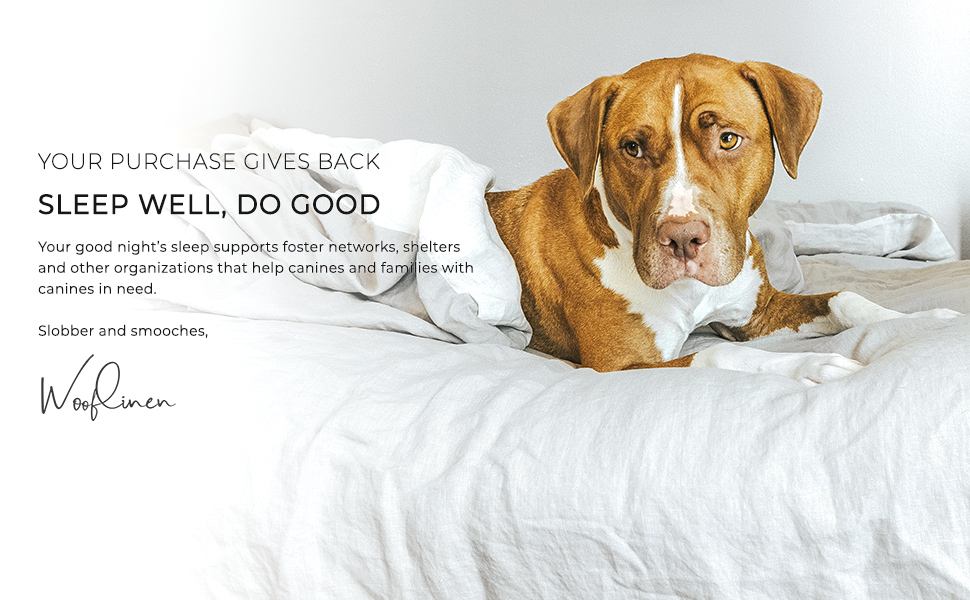 pitbull french linen bed give back