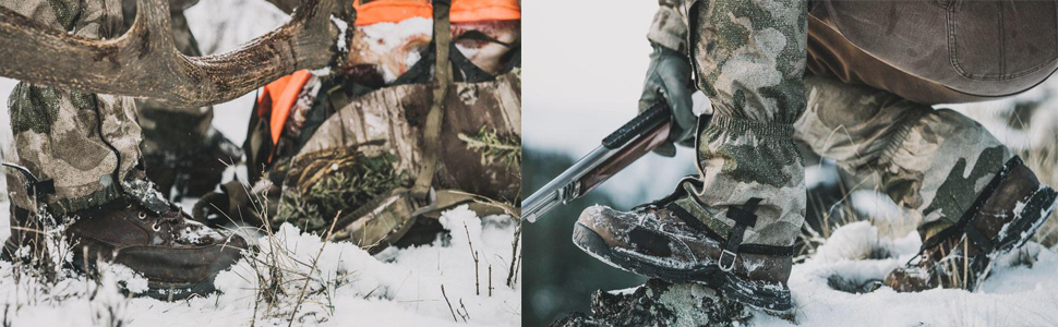 Man hunting during winter season