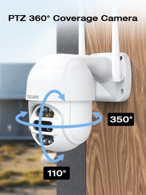 TOGUARD PTZ Security Camera Outdoor wireless wifi Pan/Tilt/Zoom ip camera 1080P