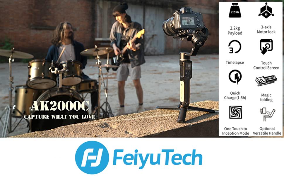 FeiyuTech AK2000S 3-Axis Gimbal Stabilizer for Mirrorless & DSLR Cameras
