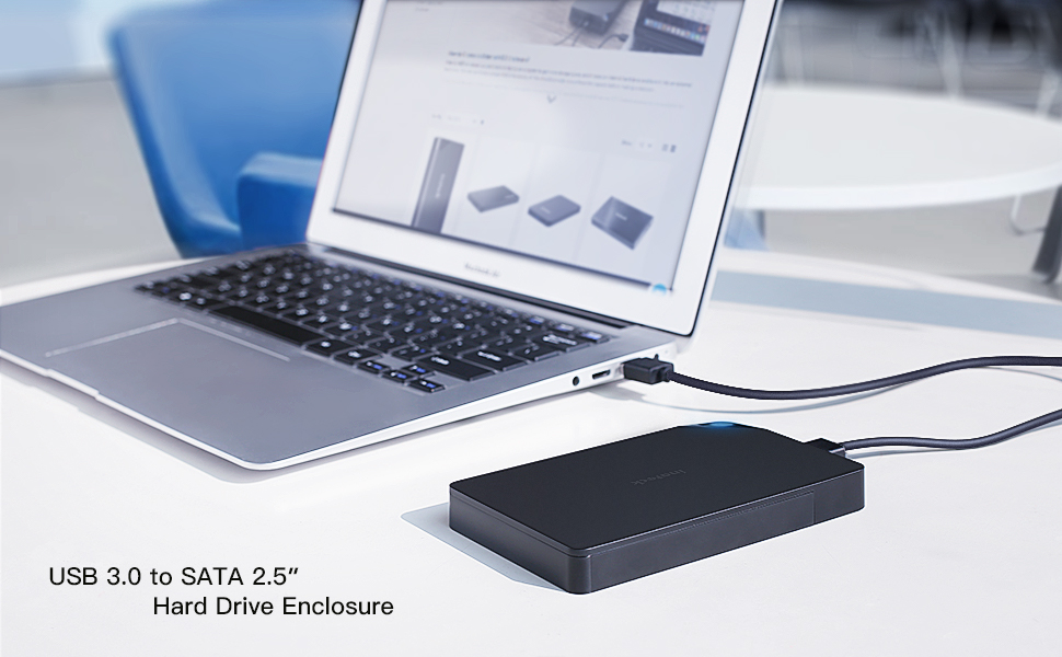 Support Thickness: 7.0-12.5mm XIAOMIN EB-2506U3 SATA USB 3.0 Interface HDD Enclosure for Laptops Color : Black Black Durable