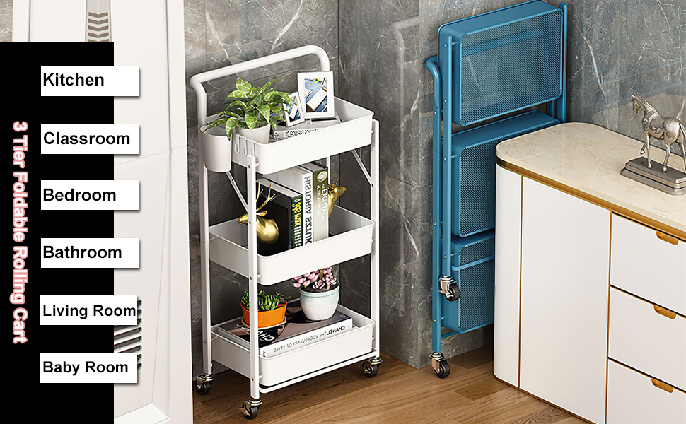 storage cart with handle