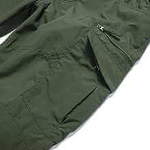 Men's Outdoor Cargo Hiking Pants Lightweight Waterproof Quick Dry Tactical Pants Nylon Spandex