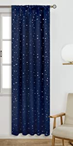 star blackout curtains for kids bedroom