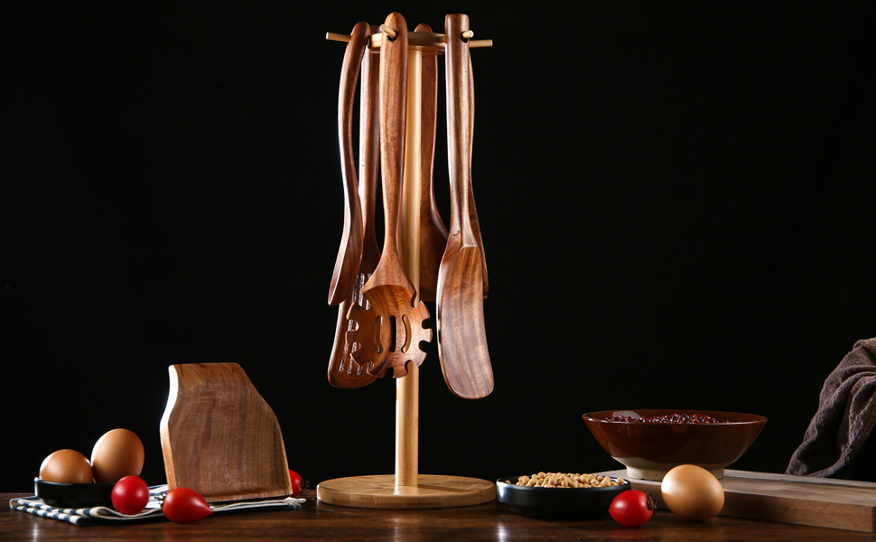 NAYAHOSE 8PCS WOODEN SPOONS
