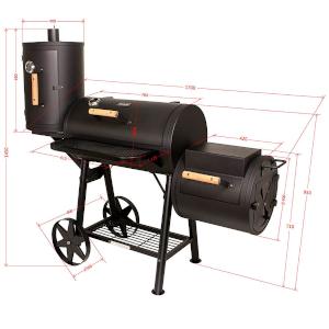 taino yuma 110 kg smoker holz-kohle-grill vertikale räucher-box kammer schwarz maße grillen smoken