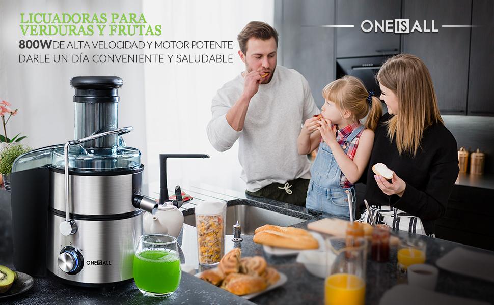 oneisall Licuadoras para Verduras y Frutas, 800W Licuadoras para ...