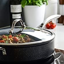 batterie de cuisine casserole sauté cuire induction qualité supérieure cuisson chaleur aluminium