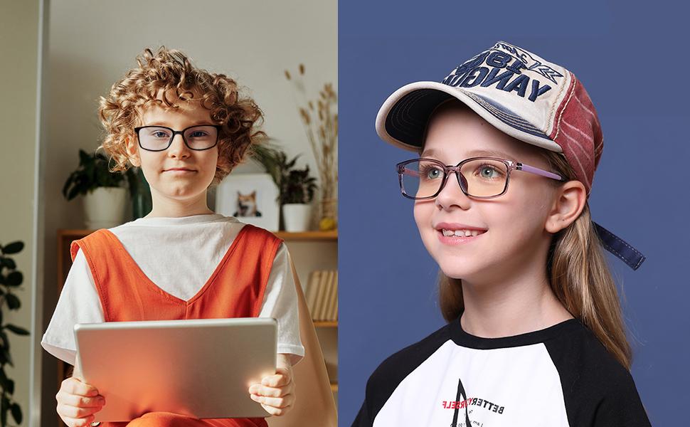 computer gamer uv glasses for kids teens blue light blocking